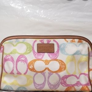 AUTHENTIC COACH SCRIBBLE COSMETIC MED BAG